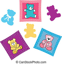 Baby shower card with teddy bear to