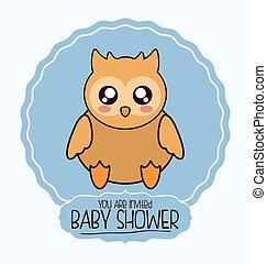 baby shower cartoon card design