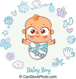 Baby shower celebration greeting and invitation card