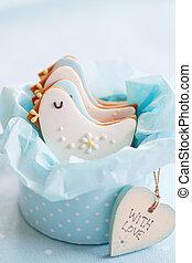 Baby shower cookies - Gift box of baby shower cookies
