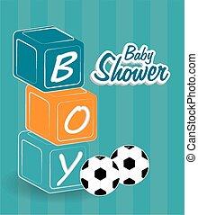 Baby shower design, vector illustration.