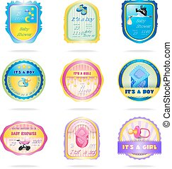 Baby shower emblems