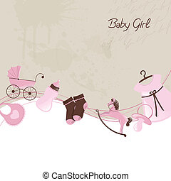 Baby Shower - Vector Illustration of a Baby Shower