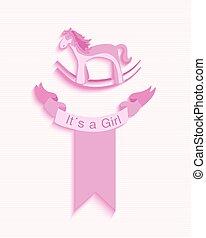 Baby shower girl invitation card design