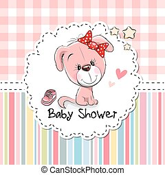 Baby Shower Greeting Card with Puppy