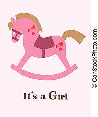 baby shower horse girl