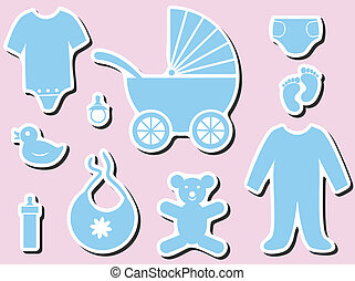 Baby shower icons