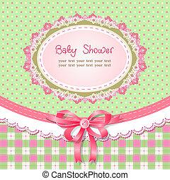 Baby shower for girl, vector illustration