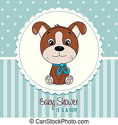 Baby shower invitation card for boy