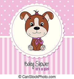 Baby shower invitation card for girl