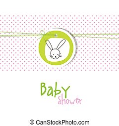 Baby shower invitation card with copy space