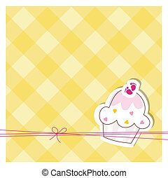 Baby shower invitation - Cue card