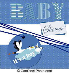 baby shower invitation new baby , it's a girl , it's a boy