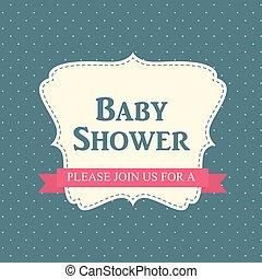 Baby Shower Invitation Vector Illustration