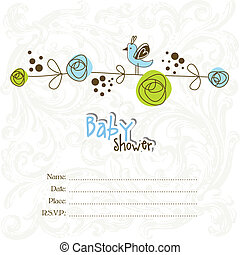 Baby shower invitation with copy sp