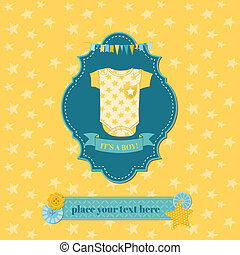 Baby Shower or Arrival Card - in vector