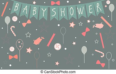 Baby Shower Party. Celebration of a newborn