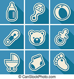 Baby Shower Square Icons