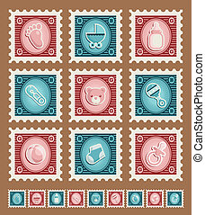 Baby Shower Stamps