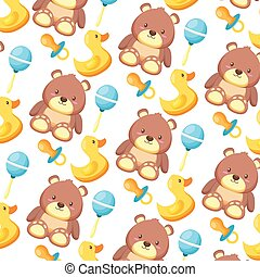 baby shower toys bear pacifier duck rattle