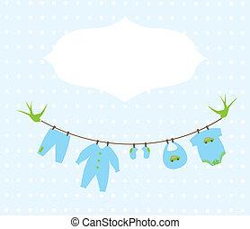 Baby Shower - vector baby boy shower card