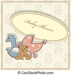 Baby shower - Vector baby shower greeting card