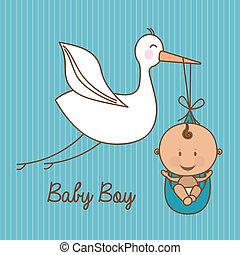 baby shower design over blue background vector illustration...