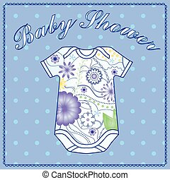Baby shower with body clothing