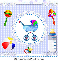 Baby shower with carriage