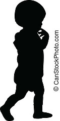 baby, silhouette