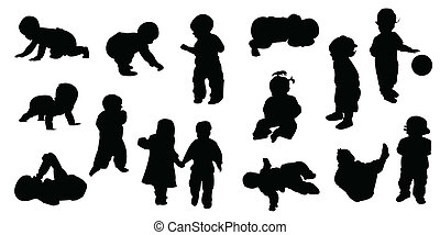 baby, silhouettes, -