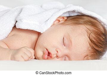 baby, slapende