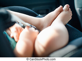 Baby Car Seat -  Baby sleep in the Baby Car Seat