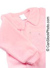 baby sleeper - little baby girl\\\'s warm pink fleece...