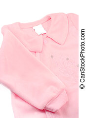 baby sleeper - little baby girl\\\'s warm pink fleece...