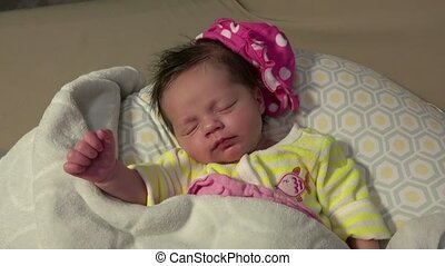 Baby Smiling In Sleep Mode - Caught baby smiling while in...