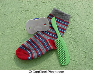 Baby Sock, Comb and soother