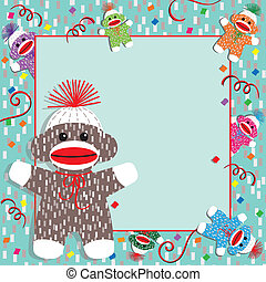 Baby Sock Monkey Shower Invitation - Adorable baby socks...