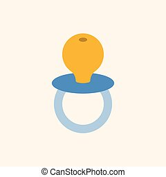 baby soother in flat design icon