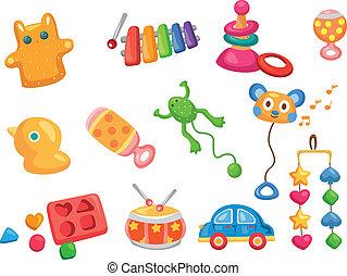 baby, spielzeug, heiligenbilder, vektor, Spielzeuge