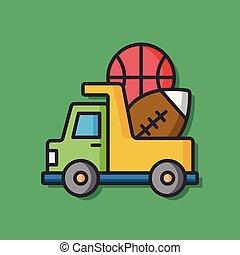 baby- spielzeug, lastwagen, ikone