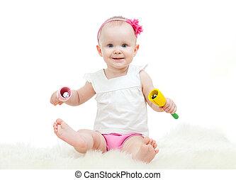 baby- spielzeug, spielende , musikalisches