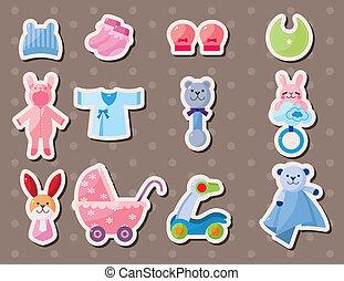 baby, stickers, farceren