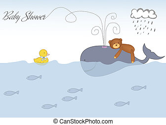 baby stortbad, aankondiging
