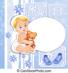 baby stortbad, blauwe , kaart