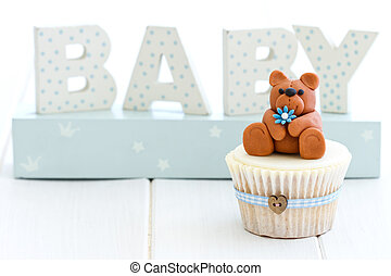 baby stortbad, cupcake