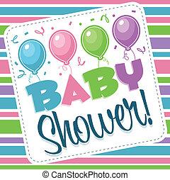 baby stortbad, illustratie