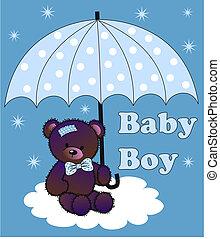 baby stortbad, jongen