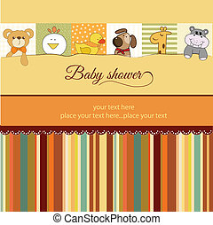 baby stortbad, kaart, aankondiging