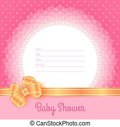 baby stortbad, kaart, mal